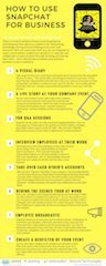 Snapchat for Business Infographic